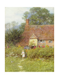 By the Cottage Gate Giclee Print by Helen Allingham