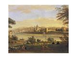 Florence from Farmhouses Giclée-Druck von Gaspar van Wittel