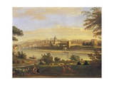 Florence from Farmhouses Giclee Print by Gaspar van Wittel