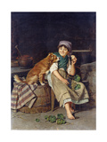 Girl with Dog Giclee Print by Federico Mazzotta