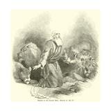 Daniel in the Lions' Den, Daniel, VI, 16, 17 Giclee Print