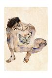 Squatting Giclee Print by Egon Schiele