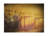 Funeral of Virgin Giclee Print by Gaetano Previati