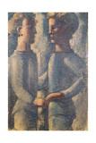 Two Friends, 1936 Giclee Print by Oskar Schlemmer