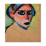 Woman's Head, 1911 Giclee Print by Alexej Von Jawlensky