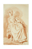 Study of a Seated Lady Giclee Print by Louis Rolland Trinquesse