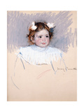 Ellen with Bows in Her Hair, Looking Right, 1899 Giclee Print by Mary Cassatt