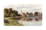 Marlow Bridge Giclee Print by Alfred Robert Quinton