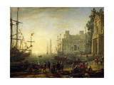 Claude Lorrain - Seaport with Villa Medici - Giclee Baskı