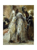 Visiting College Giclee Print by Tranquillo Cremona