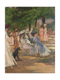 Figures in Hyde Park Giclee Print by Charles Edward Conder
