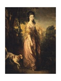 Mrs Lowndes-Stone Giclee Print by Thomas Gainsborough