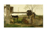 The Pumping Machine, 1863 Giclee Print by Silvestro Lega