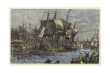 The People of Boston Throwing the Tea Overboard Giclee Print