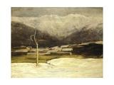 Savognino Landscape, 1886 Giclee Print by Giovanni Segantini