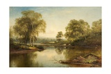 The Stream Through the Birch Woods, 1871 Giclee Print by Benjamin Williams Leader