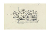Nude Lying on a Bed Giclee Print by Walter Richard Sickert