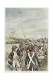 Battle of Fleurus Giclee Print by Felicien Baron De Myrbach-rheinfeld