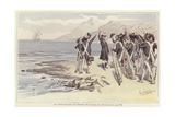 Soldiers Renewing their Oath to Die Republicans Giclee Print by Felicien Baron De Myrbach-rheinfeld