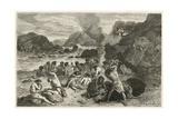 Un Festin a L'Epoque Du Renne Giclee Print by Emile Antoine Bayard