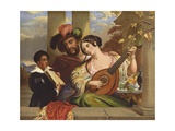 Il Duetto Giclee Print by William Etty