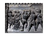 Beheading of St John the Baptist, 1477 - 1480 Giclée-Druck von Andrea del Verrocchio