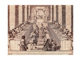 Knight's Banquet Giclee Print by Abraham Bosse