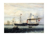 The Britannia Entering Boston Harbour, 1848 Giclee Print by Fitz Henry Lane