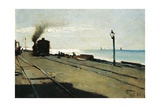 Train, 16 July 1883 Giclee Print by Lorenzo Delleani
