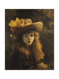 Portrait of Girl Giclee Print by Gustave Courbet