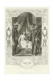 King John, Act III, Scene I Giclee Print by Joseph Kenny Meadows