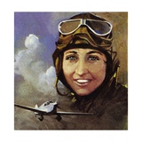 Amy Johnson Who Flew from Croydon to Capetown Giclee Print by Ferdinando Tacconi