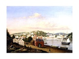View of Norwich, Connecticut, USA, 1849 Giclee Print by Fitz Henry Lane