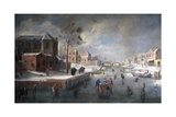 Winter Landscape with Church Giclee Print by Jan Wildens