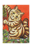 Christmas Cat Giclee Print by Louis Wain