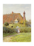 Sunflower Cottage Giclee Print by Helen Allingham