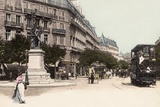 Boulevard St Germain and the Rue Du Bac, 1900 Photographic Print
