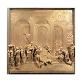 Isaac, Esau and Jacob, 1425 - 1452 Giclee Print by Lorenzo Ghiberti