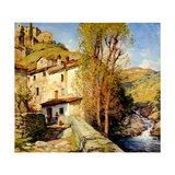 Old Mill at Pelago, Italy, 1913 Giclee Print by Willard Leroy Metcalf