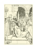 Charlemagne Crowned at St Peters Giclee Print