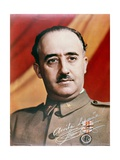 Official Portrait of General Francisco Franco Giclee Print