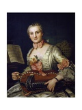 Lady Playing Hurdy-Gurdy, 1741 Giclee Print by Donat Nonotte