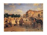 Chivasso Market, 1880 - 1885 Giclee Print by Demetrio Cosola