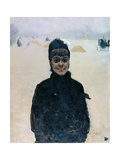 Woman with a Veil Giclee Print by Giuseppe De Nittis