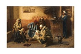Tric-Trac Players, 1886 Wydruk giclee autor Leopold Karl Muller