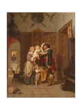 The Cavalier's Return, 1855 Giclee Print by August Friedrich Siegert