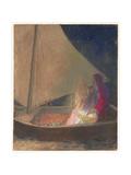 La Barque, 1902 Giclee Print by Odilon Redon
