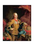 Portrait of Emperor Franz I, 1752 Giclee Print by Johann-Gottfried Auerbach