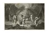 Le Fourneau Primitif Pour L'Extraction Du Fer Giclee Print by Emile Antoine Bayard