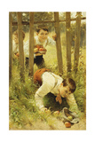 Stealing Apples Giclee Print by Karl Witkowski